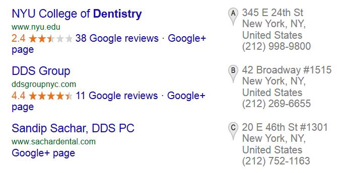 205 فاکتور سئو در گوگل که رتبه بندی وبسایت های دنیا را رقم میزند - جستجو های محلی