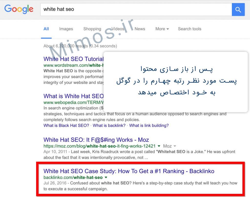 نوسازی باعث کسب رتبه بهتر در گوگل می شود