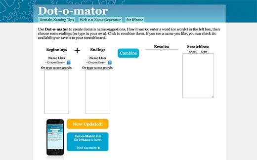چند ابزار ایده آل تولید نام دامنه خلاقانه که باید امتحان کنید، رایگان + آنلاین - Dot-o-Mator