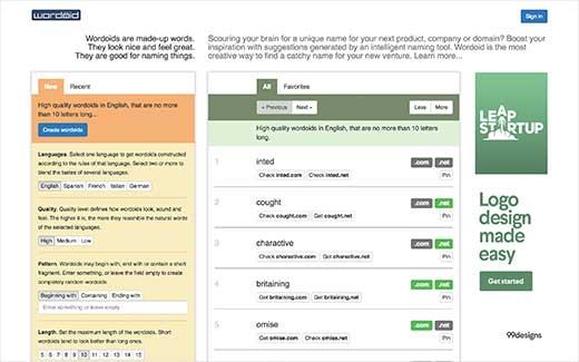 چند ابزار ایده آل تولید نام دامنه خلاقانه که باید امتحان کنید، رایگان + آنلاین - Wordoid