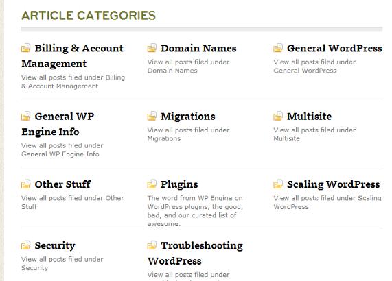 محتواهای پشتیبان WPEngine | کیفیت پشتیبانی از مشتری