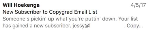 نمونه ایمیل 3