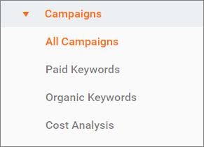 کسب و فراگیری کاربران – Acquisition - کمپین های اجتماعی شما – Campaigns