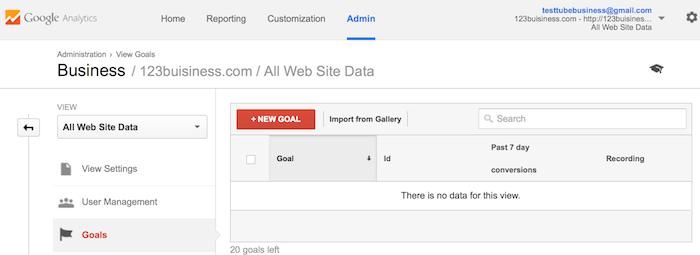 هدف جدید New Goal در گوگل آنالیتیکس