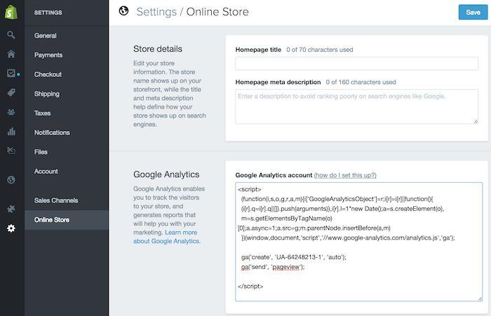 کد رهگیری Tracking Code در  Shpify