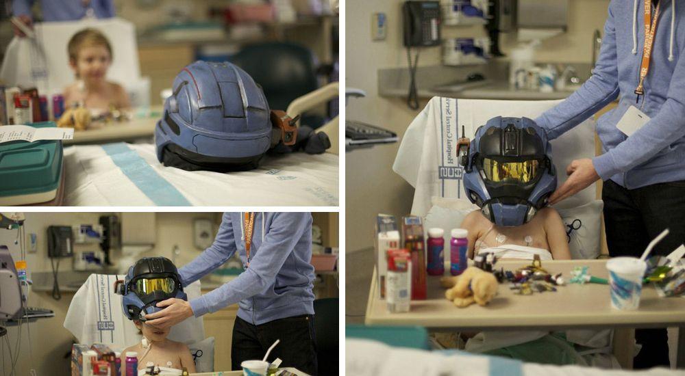 تصویر هدایای تیم بونجی برای بیمارستان داستان هیلو - توجه به مشتری