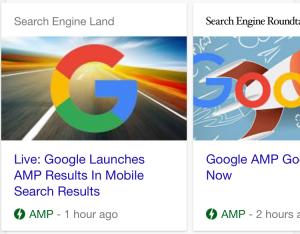 نتایج سایت های AMP در گوگل