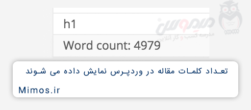 شمارش تعداد کلمات مقاله در وردپرس