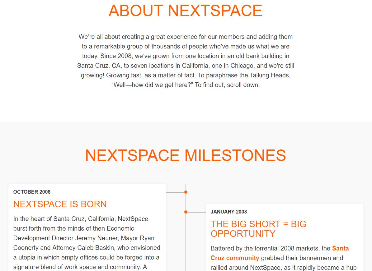 صفحه درباره ما وبسایت NextSpace