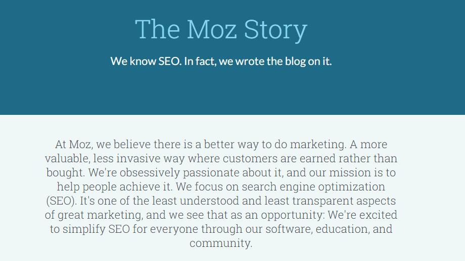 داستان شرکت moz