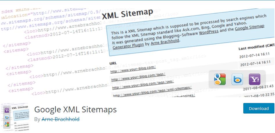 Google XML Sitemap plugin