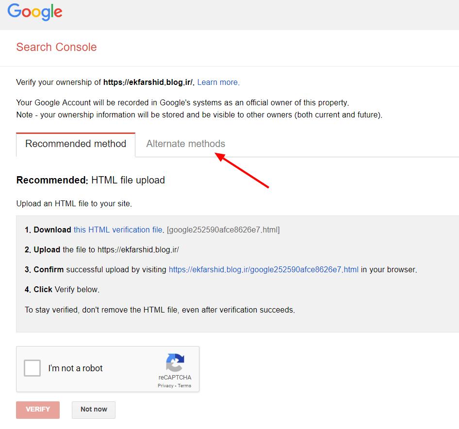 گزینه های جایگزین برای تایید سایت