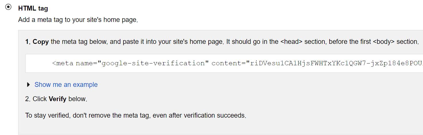 HTML Meta Tag