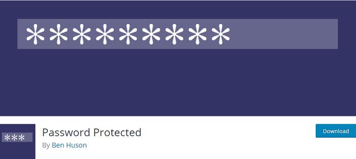 افزونه رایگان Password Protected