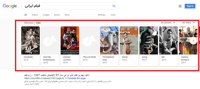 لیست گوگل
