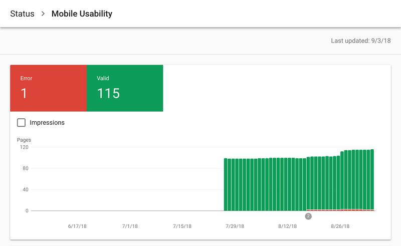 گزارش قابلیت استفاده در تلفن همراه سرچ کنسول گوگل