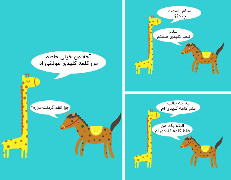 کارتونی برای طول کلمه کلیدی