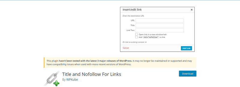 ابزار title and nofollow for links